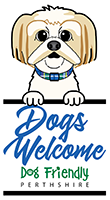 Dog Friendly Perthshire Logo indicating that dogs are welcome at Bridge of Gaur Guest House