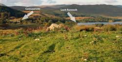 The end of Loch Rannoch and Camusericht