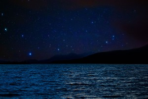 Night sky on the water