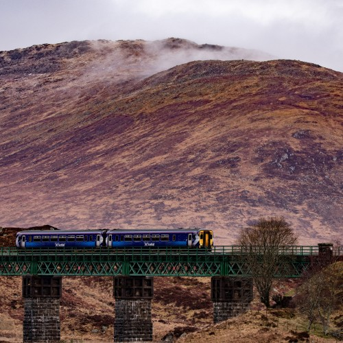Train in the highlands
